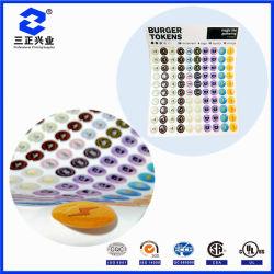 De aangepaste Waterdichte Glanzende Stickers van de Koepel van de Hars Epoxy met Sterke Zelfklevend