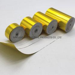 L'or reflètent réfléchissant la chaleur d'aluminium-a-feuille d'or