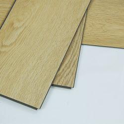 Pisos de PVC de respaldo de Cork Oak haga clic en el suelo de parqué de vinilo
