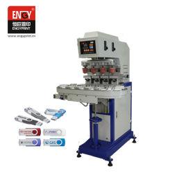 Stampa semiautomatica del rilievo della Tabella rotativa di 4 colori per la stampatrice fissa ed elettronica del rilievo di Tampo dei prodotti