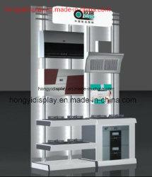 Mensola di visualizzazione di legno degli elettrodomestici, banco di mostra