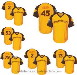 La Liga Americana majestuoso amarillo y marrón Bogaerts Ramírez Jersey de béisbol
