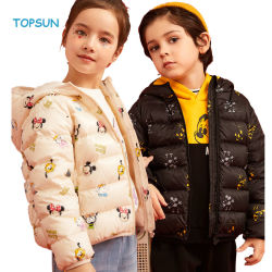 Los niños ropa de invierno niño encapuchado Childre niñas y niños Down Jacket