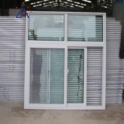 Personnalisés coulissantes horizontales en aluminium de la sécurité de Windows avec sécurité Fibre/moustiquaire en acier inoxydable