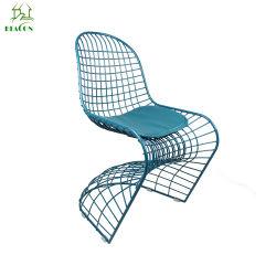 Revestimiento de polvo de forma moderna de la malla de alambre de acero sillas de comedor
