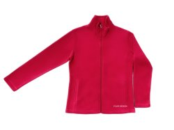Des vêtements décontractés de base Les femmes se situent le collier pleine fermeture éclair laine polaire rose corail Vestes