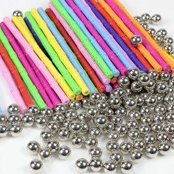 Magnet hält Metallkugel-magnetische Entwerfer-Baukastenprinzip-Spielwaren für den pädagogischen Entwerfer des Kind-Geschenk-DIY ab