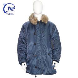 パッディングの厚い毛皮で覆われたカラーが付いている軍の戦術的な警察の冷たい防護衣