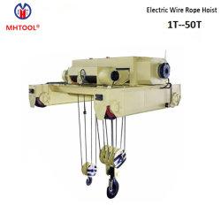 16т электрический провод троса лебедки для одинарной рейкой кран с двумя крючками Китая поставщика