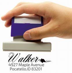 다양한 크기와 셸이 있는 미리 인크된 사용자 지정 플래시 스탬프 색상