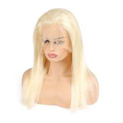 Couleur blonde Kbeth #613 Full Lace Wig avant avec bouchon interne réglable de 100 % de cheveux synthétiques
