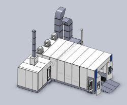 L'environnement de peinture en aérosol Meubles de salle de mélange de cabine de pulvérisation de peinture/salle de mélange/salle de séchage