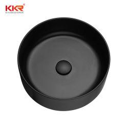 Quartz noir mat Pierre artificielle bol double évier de cuisine