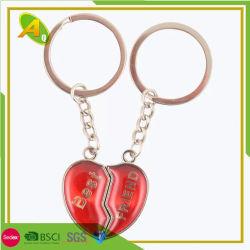 Simple Keyholder métal custom de couleur marron chaîne de clés en cuir (081)