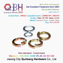 Hardware van het Bevestigingsmiddel van Qbh de Industriële die in de Leverancier DIN 127 Wasmachine van de Lente van de Montage van de Noot van de Bout van de Schroef de Sanitaire Bulkbuy wordt gemaakt van China