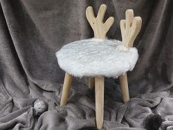 Sgabello/ottomano Animale-A forma di della pelliccia del Faux della mobilia del salone con la fabbrica della Cina delle feci dei piedini di legno