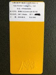 Poliéster brillante Amarillo RAL 1013 Revestimiento en polvo al aire libre para el perfil de Aluminio de China pintura alimentación