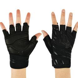 Sterkte en Gewichtheffen van de Vinger van de Handschoenen van de Fitness van de douane het de Halve voor Mannen & Vrouwen die de Handschoenen van Sporten cirkelen