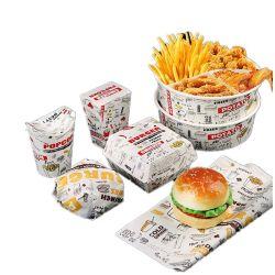 La canasta de alimentos en papel blanco Square-Red camisas a cuadros Deli Sandwich barbacoa envolver