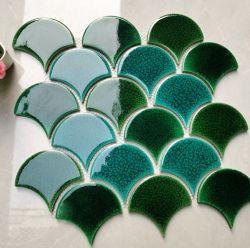 حمام السباحة تصميم جيد بورسلين الثلج كراكل أخضر فسيفساء من السيراميك