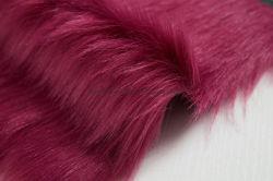 赤いカラー人工毛皮ファブリックのどの毛皮の製造業者