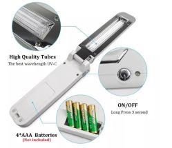 Telefone celular Lâmpada germicida Sanitizer mão segure a lâmpada UV Desinfecção Dterilization Varinha de LED de luz UV