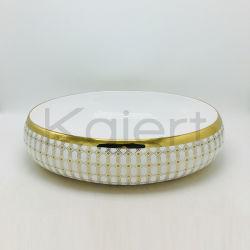 楕円形の上の countertop の浴室の虚栄心のベッセルの流し