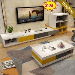 غرفة معيشة حديثة أثاث غرفة نوم معدة تلفاز خشبى وقهوة الجدول