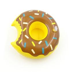Porte-gobelet de beigne gonflable gonflable ronde verre personnalisé pour la vente de refroidisseur de flottement