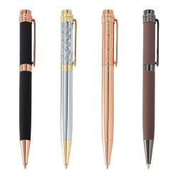 Publicidade Multi-Color Caneta esferográfica, Micro-Label personalizados, caneta promocional de metal/897