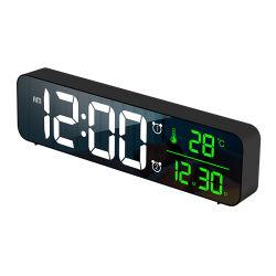 Desktop moderno quente Wake-up Light LED Digital relógio de parede para quartos de dormir