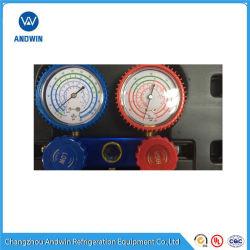 Une partie de l'aluminium de réfrigération le jeu de manomètres
