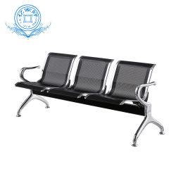 공장 직매 3 Seater 금속 프레임 공항 병원 정원 공원을%s 옥외 기다리는 벤치 의자