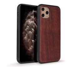 La vente personnalisée en usine à chaud de gros S8 Téléphone en bois de conception de cas le couvercle arrière pour l'iPhone 11PRO Max