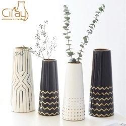 Vaso in ceramica da 12 pollici 10 pollici con superficie piccola per fiori Arredamento domestico