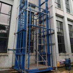 Qiyun 4m 6m 8m Guide Rail Cargo Güter Frachtaufzug Aufzug kann für Lagerhaltung angepasst werden