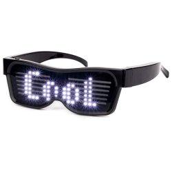 Il USB ricaricabile illumina in su i vetri infiammanti al neon dell'occhio del partito LED di rave di festival di vetro dell'otturatore LED protettivi