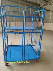 Logistica lavanderia industriale piegatura magazzino contenitore gabbia contenitori rotoli Carrello