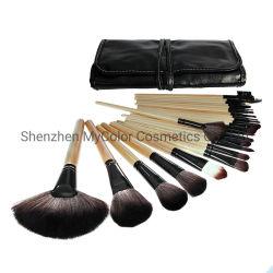 Conjunto de escova de maquiagem Vegan profissional 32 PCS Escovas Artista de maquiagem sintético