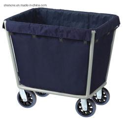 [شنون] فندق مستشفى [غست رووم] غسل منزل تقدم عجلة نوع خيش [لينن كلوث] حامل متحرّك [ستينلسّ ستيل] يطوي عربة