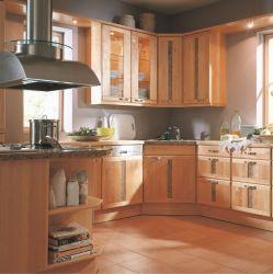 Cucina professionale Hot sale in legno massello di quercia con Pietra artificiale