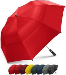 Doppio baldacchino scaricato antivento ombrello piegante di golf di 58 pollici con grande - forte ombrello portatile surdimensionato della famiglia - pieghevole ad appena 23 pollici