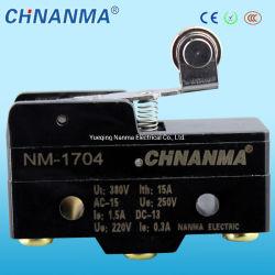 En Plástico ABS 15A/250VAC Rodillo bisagra Micro interruptor de palanca tipo