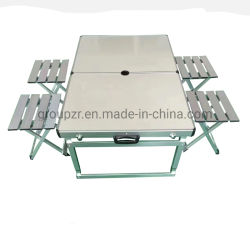 Mobilier extérieur en aluminium Table & TABOURET PLIABLE MDF