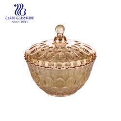 Classic Candy pot en verre avec Ambre Couleur de la conception électronique (GB1811YD-DDD)