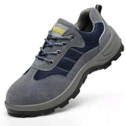 Laarzen van de Mensen van het Leer de Hogere Pu van de Schoenen van de Veiligheid van Safetoe van het werk Enige