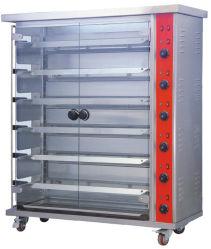 Превосходное качество изображения по вертикали в коммерческих целях 6 стержней автоматическая электрическая ротиссери курица духовке в течение 30 куриные