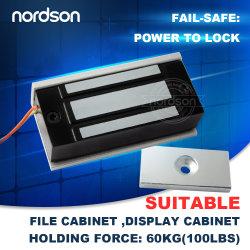 Mini-fenêtre de l'armoire électrique automatique Frameless Saftety en verre de sécurité de serrure de porte magnétique
