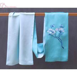 Les femmes Sunscreen Foulard en Soie châle à tête carrée de 100 % de la broderie à la main