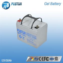 Pustun 12V30ahの再充電可能な鉛のSolorシステムのための酸のゲル電池